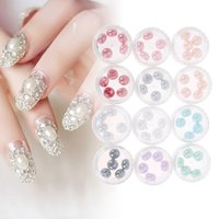 12 box / Set 3D Nail Art Decorations Акриловые алмазные фигурки Rhinestones To Nails Art Accessories Nail Art Glitter Rhinestones Наклейки
