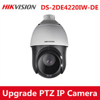 Wholesale Speed Dome Bracket - Hikvision Upgradable english DS-2DE4220IW-DE 2MP 20x Zoom PTZ Speed POE CCTV IP Network Outdoor waterproof IP66 Dome Camera with Bracket