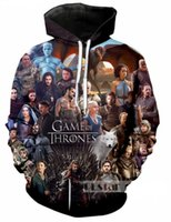 Wholesale game thrones 4xl - New Fashion Couples Men Women Unisex Game of Thrones 3D Print Hoodies Sweater Sweatshirt Jacket Pullover Top S-5XL T92