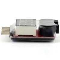 tester niederspannung großhandel-1-8 S Lipo / Li-Ion / Fe Batteriespannung 2IN1 Tester Niederspannung Summer Alarm