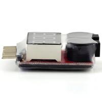 alarma de voltaje lipo al por mayor-1-8S Lipo / Li-ion / Fe Battery Voltage 2IN1 Tester Alarma de zumbador de bajo voltaje