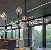 sala de jantar luz led venda por atacado-Nova Lindsey Adelman Lustres de iluminação moderna lâmpada lâmpada pingente de novidade natural ramo de árvore de suspensão luz de Natal do hotel sala de jantar