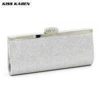 Wholesale Blue Party Powder - Wholesale- Kiss Karen Exquisite Frosted &Glitter Powder Women's Clutches Evening Bags Women Party Clutch Bags Club Sexy Lady Minaudiere