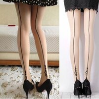 Wholesale Pantyhose Tattoo Girls - Wholesale-1 Pair New Women Lady Girls Sexy Stockings Pantyhose English Love Letter Tattoo Jacquard Leggings