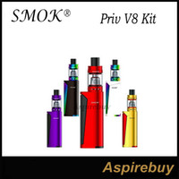 Wholesale Blue Fire Design - SMOK Priv V8 Kit PRIV V8 60W Mod with 3ML TFV8 Baby Beast Tank Powered by Single 18650 Battery Squeeze-to-Fire Bar Design 100% Original