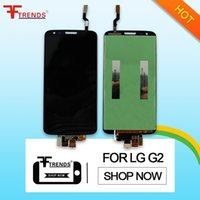 Wholesale lg g2 screen panel online - for LG G2 LCD Display with Touch Screen Digitizer Full Assembly Black White Front Glass Touch Panel Tested