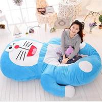 Wholesale Anime Double Size - Japan Anime Doraemon Beanbag Plush Soft Bed Mattress Tatami Sofa Double Size 200cm*150cm Kids Present