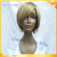 12 blonde highlights styles - Hot Sale Short Bob Wig Synthetic Honey Blonde Wigs for White Women Young Lady Wigs OL Style Highlight Blonde Wig