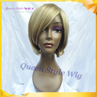 Hot Sale Short Bob Wig Synthetic Honey Perruques Blonde pour Femmes Blanches Lady Lady Perruques OL Style Highlight Blonde Wig