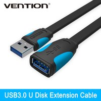 Wholesale Extension Hdmi Male Female - Wholesale- Vention High Speed USB3.0 Extension Cable USB3.0 Male To Female Extension Data Sync Cord Cable Adapter