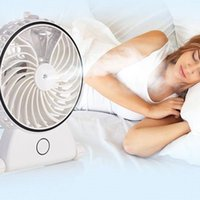 Wholesale Battery Humidifier - Portable Mini Misting Rechargeable Humidifier Fan Handheld Air Cooler Operated Desk USB Battery Water Spray Fan FGJ0012