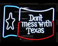 "Wholesale Light T Bar - Brand New DON`T MESS WITH TEXAS Real Glass Neon Light Beer Sign17""X14"""