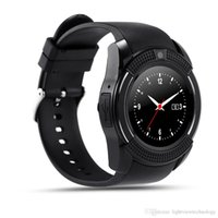 Wholesale New Android Hd - New Arrival 8 Colors V8 Smart Watch Phone Bluetooth 3.0 IPS HD Full Circle Display MTK6261D Smartwatch VS GT08 DZ09