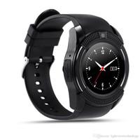 smartwatch hd toptan satış-Yeni Varış 8 Renkler V8 Akıllı Seyretmek Telefon Bluetooth 3.0 IPS HD Tam Daire Ekran MTK6261D Smartwatch