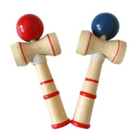 Wholesale Traditional Japanese Children Toys - 50pc Funny Japanese Traditional Wood wooden Game Toy Kendama Ball Education Gift New for sports children wedding gift 5.5*14cm #Z10