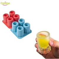 Wholesale Wholesale Novelty Ice Cream Gifts - Delidge 1 pc Cup Shape Ice Mold Soft Silicone Frozen Ice Tube Mould Party&Bar Ice Cubes Tray Maker for Coke Novelty Gifts