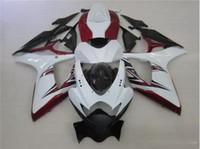 siyah beyaz gsxr toptan satış-Ücretsiz hediyeler Için Yeni sıcak motor Kaporta Kitleri SUZUKI GSXR 600 750 K6 06 07 GSXR-600 GSXR750 GSXR600 GSXR-750 2006 2007 siyah kırmızı ve beyaz