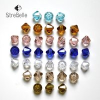 Wholesale 6mm Glass Crystal Bicone - 6mm AA Bicone Beads 500pcs lot Crystal Glass Beads Supplier 7 Color Beads DIY Jewelry Faceted Glass Crystal Spacer 5301