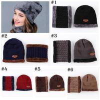 Wholesale polar fleece beanie hat - UNISEX Warm Cap Thick Winter Hat Fashion Skullies Beanies Wool Hat Cap Beanie Knitted Caps Neck Warmer Warm Hat YYA759