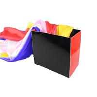 diversión de seda al por mayor-Silk Fountain Box 2 Trucos de magia (Sedas no incluidas) caja mágica Props close up magic Diversión en el escenario Accesorios 81283