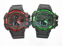 Wholesale Mans Watches Analog Digital - New GA1100 relogio men's sports watches, LED chronograph wristwatch, military watch, digital watch, good gift for men & boy, dropship