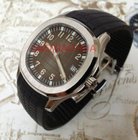 Wholesale Automatic Watch Mechanism - luxury watches mens fashion eartch automatic Tonneau watch aquanut with black rubber band relogio masculino mechanism