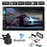 "Wholesale Car Screen Double Din - 12V 7"" Inch HD Bluetooth Touch Screen Double 2 DIN Car Audio Stereo Radio MP5 Player with Remote Control WNAAL7"