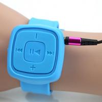 Wholesale Waterproof Watch Mp3 Player - Wholesale- 1 PCS Fashion Christmas Gift Mini Sport MP3 Music Player Wrist Watch Bracelet Portable Waterproof MP3 Player With TF Card Slot