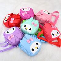 Wholesale Long Shoulder Strap Handbags - Kids Girls Mini Handbags 2017 Baby Girls Cartoon Rabbit Shoulder Bags Princess Messenger Bags Children Purses Long Strap Crossbody Bag A7111