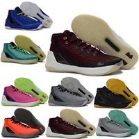 Wholesale Mvp Shoes - High quality 1:1 Exquisite Step-C SC V3 MVP Basketball Shoes Men #30 basketball shoes Retro Space Sneakers With Box size 40-46