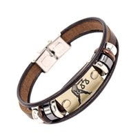 Wholesale alibaba wholesaler online - Alibaba Hot Selling Europe Fashion  zodiac signs Bracelet With Stainless Steel 973453369b6cd