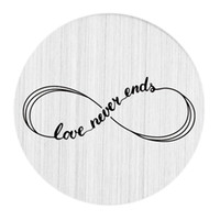 Wholesale Large Love Necklace - 22mm Brushed Stainless Steel Large Floating Living Memory Charm Locket Necklace Message Backplate Jewelry - Love Never Ends