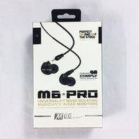 Wholesale DHL Free Hot M6 PRO In Ear Monitors headsets Universal Fit Noise Isolating Earbuds Musician Wired Earphones With Retail Packaging
