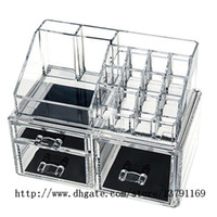 Wholesale Drawer Organizer Acrylic Box - Makeup Holder Multiple Display Stand Cosmetic Organizer Clear Acrylic Makeup Organizer Drawer