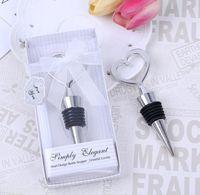 bouteilles en forme de bateau achat en gros de-100set / lot + chrome bouchon en forme de coeur bouchon en boîte d'affichage vitrine emballage faveurs de mariage livraison gratuite