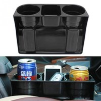Wholesale Car Plastic Drink Holder - Multifunction Auto Seat Wedge Cup Drink Holder Vehicle Seat Cup Cell Phone Drinks Holder Box Car Accessories