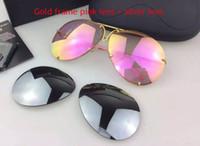 erkekler için geniş çerçeve güneş gözlüğü toptan satış-Araba marka Carerras 8478 Güneş Gözlüğü P8478 Bir ayna lens pilot çerçeve ile ekstra lens değişimi araba marka büyük boy erkekler marka tasarımcısı
