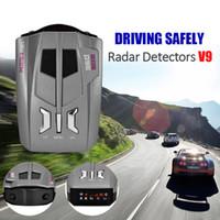 Wholesale Scan Gps - 2017 CAR GPS 360 Degree Car radar detector V9 16 Band Scanning LED Radar Detector Car Speed Testing System english Russia