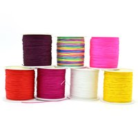 Wholesale Sizes Chinese Knotting Cords - High Quality Size 0.6 mm Colorful Chinese Knotting Cord in Stock From Yiwu 90m ZYL0004-71