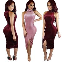 Wholesale Sexy Jeans Skirts - Sexy Bandage Nightclub Skirt Novelty clubwear bodycon jumpsuits for women pants rompers clothes elegant summer dresses jeans red pink