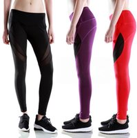 Wholesale Drop Pants For Women - Candy Colors Lulu Solid Fashion Capris For Women Sports Elastic Fitness Leggings Slim Running Gym Pants Drop Shipping