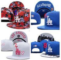 Wholesale Dodger Beanies - 2017 Los Angeles Dodgers Snapback Hip Hop MLB Snapback Baseball Caps Women Men hats mixed wholesale 8 colors beanies