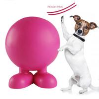 Wholesale Plastic Dog Bone Toy - Angel demon bones dog dog ball natural rubber denture training ball sound bitter bite dog toy