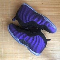 Wholesale Eggplant Satin - 2017 hot mens basketball foammens shoes cheap Eggplant boy penny hardaway shoes Black Varsity Purple Sports posite sneakers with box online