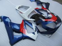 Wholesale Honda Cbr929rr - Injection molded 100% fairing kit for Honda CBR900RR 00 01 deep blue white fairings set CBR929RR 2000 2001 OT21