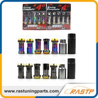 Wholesale Projects Quality - Project Kics Racing Composite R40 Neo Titanium Chrome Steel Lock Anti Theft Lug Nuts High Quality RS-LN003