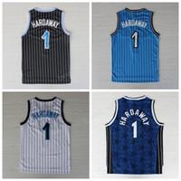 Wholesale Vintage Black Fan - Men Throwback 1 Penny Hardaway Jersey Stitched Vintage Hardaway Basketball Jerseys For Sport Fans Team Blue Black White Free Shipping