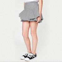 Wholesale Cotton Dress Elastic Waist - 2017 Big Baby Girls Plaid Short pants Teenager Fashion Cotton Trouser Junior Summer Casual dress Pants childrens clothing