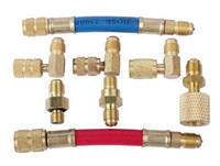 Wholesale Air Manifolds - R-12 R134A R12 car Vehicle a c Systems Air Conditioning Adapters Manifold Gauge Brass Refrigeration Adapter Connector Set, Hoses Set Kit
