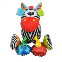 Wholesale Baby Zebra Stuff - Wholesale- Sozzy Baby Vibrated Plush Animal Zebra Toy Rattle Crinkle Sound 16cm Soft Stuffed Multicolor Multifunction Toy